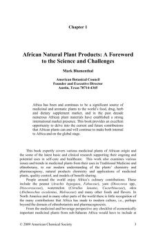 African natural plant products by