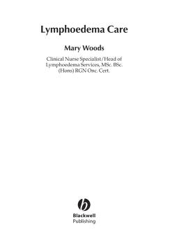 Lymphoedema Care by Mary Elizabeth Woods