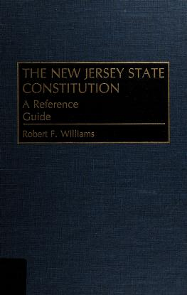 Cover of: The New Jersey State constitution | Robert F Williams